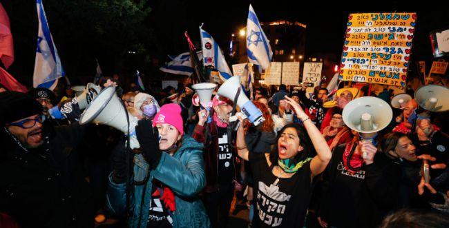 לראשונה מאז הבחירות: מפגינים נגד נתניהו בבלפור