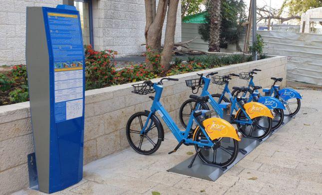 הושק אתר האינטרנט של מיזם השכרת האופניים בירושלים
