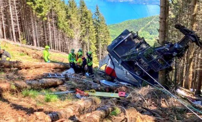 אסון באיטליה: 5 ישראלים נהרגו בהתרסקות הרכבל