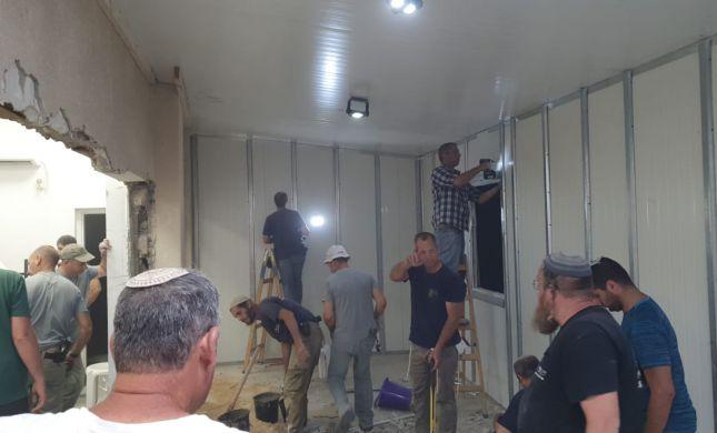 תושבי השומרון שיפצו את בית הכנסת דוסא בלוד