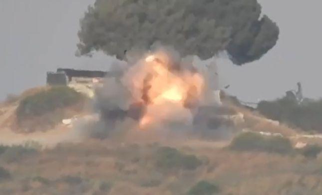"""תיעוד: טיל נ""""ט פגע ברכב בעוטף עזה, הנהג ניצל"""