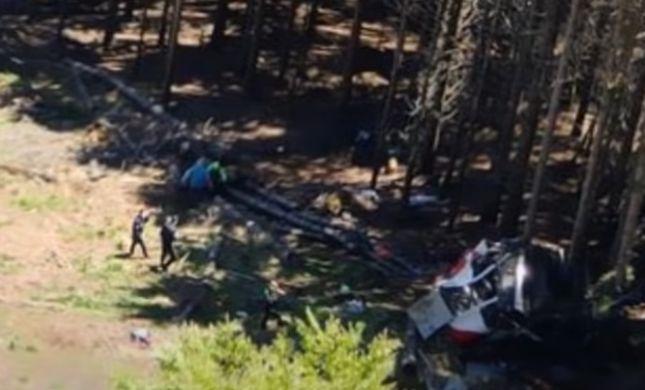 אסון באיטליה: רכבל התרסק בהרי האלפים, 12 נהרגו