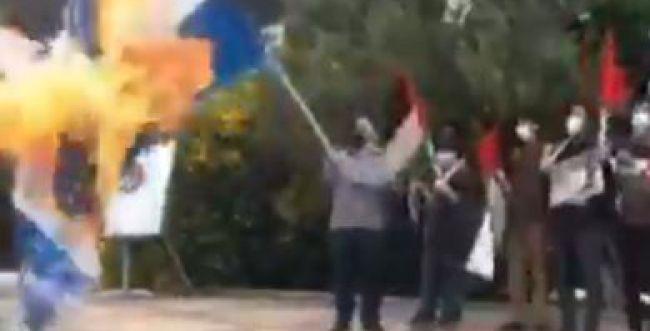 צפו: לא תאמינו מה קרה לאיראני שהצית דגל ישראל
