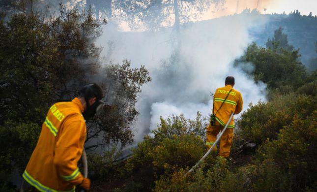 שריפות ברחבי הארץ: גם כביש 6 נחסם לתנועה
