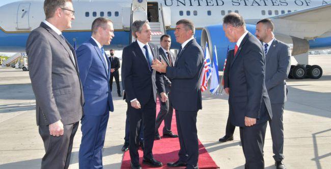 ביקור ראשון בארץ: אנתוני בלינקן נחת בישראל