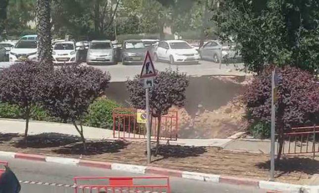 צפו: קריסה בחניון הישן בבית החולים שערי צדק