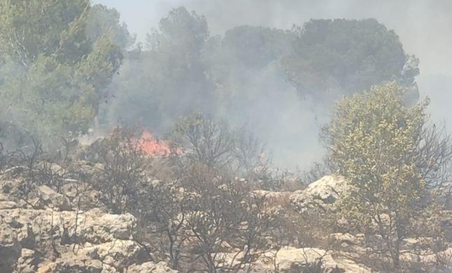 שוב שריפת ענק: הלהבות מאיימות על ביתר עילית