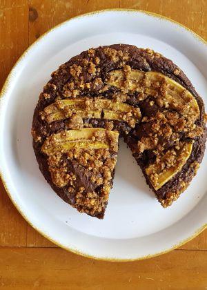 רגע מתוק  מתכון לעוגת שוקו בננה חלומית