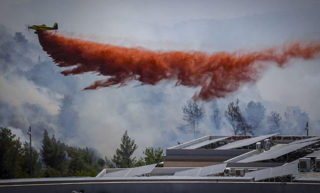 שריפת ענק במעלה החמישה: החל פינוי תושבים