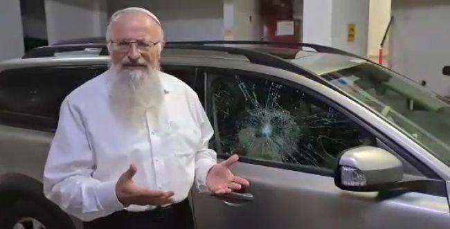 נעצרו שני ערבים שיידו אבנים על הרב שמואל אליהו