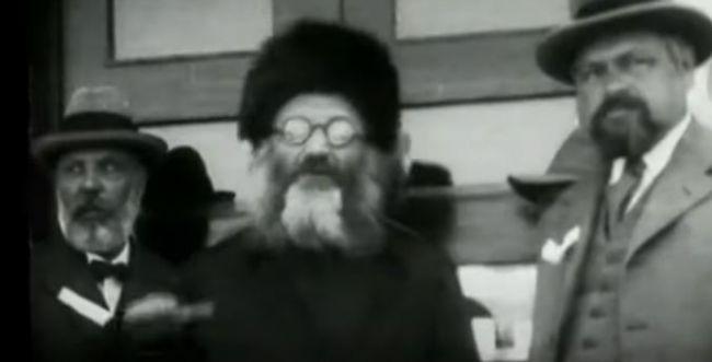 """צפו: תיעוד וידאו נדיר של מרן הרב קוק זצ""""ל"""