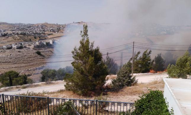 שריפת ענק בסמוך לישוב תקוע: התושבים פונו