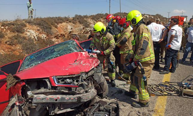פצוע קשה בתאונת דרכים סמוך ליישוב מגדלים בשומרון
