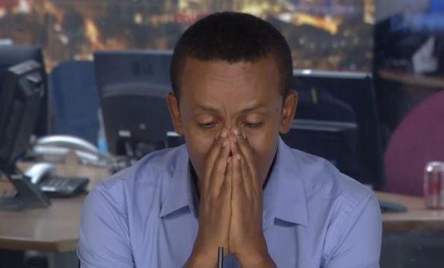 צפו: ברהנו טגניה לא מצליח לעצור את הדמעות בשידור