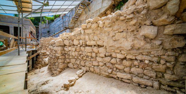 נמצא הקטע החסר של החומה מימי בית ראשון
