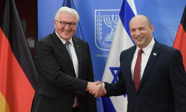 """בנט לנשיא גרמניה: """"נחושים לקדם את מדינת ישראל"""""""
