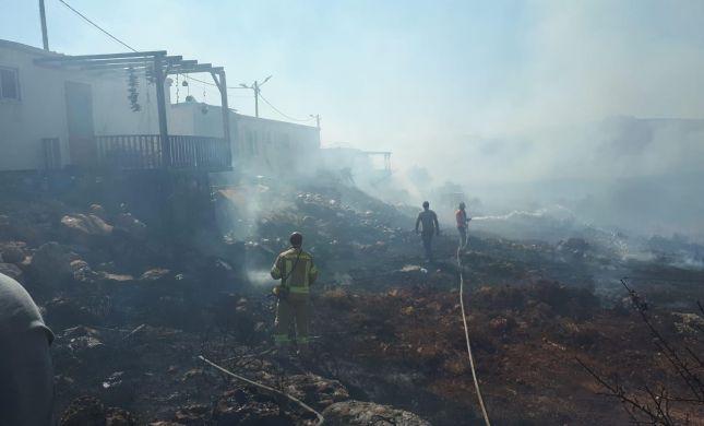 שריפה ביישוב אש קודש בעקבות הצתת ערבים