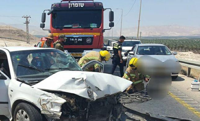 תאונה קשה בבקעת הירדן: 5 פצועים, בהם אחד קשה