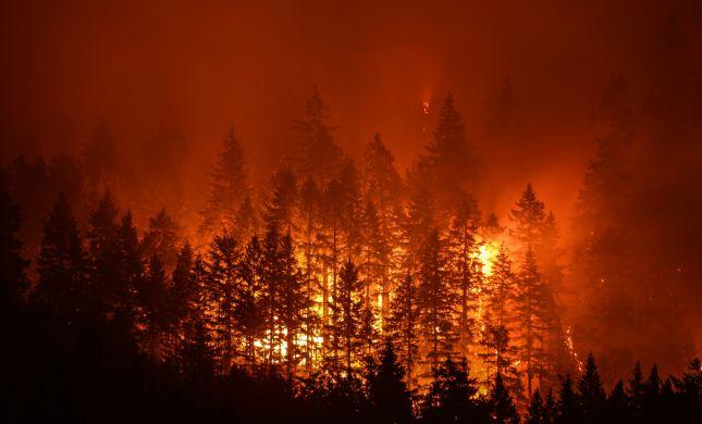 """ארה""""ב: שריפת ענק באורגון, אלפים פונו מבתיהם"""