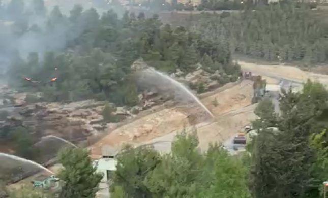 ערבי נעצר בחשד להצתת השריפה בגבעת שאול