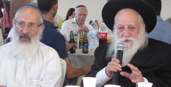 """הרב אבינר סופד לרב אברהם דב אוירבך זצ""""ל"""