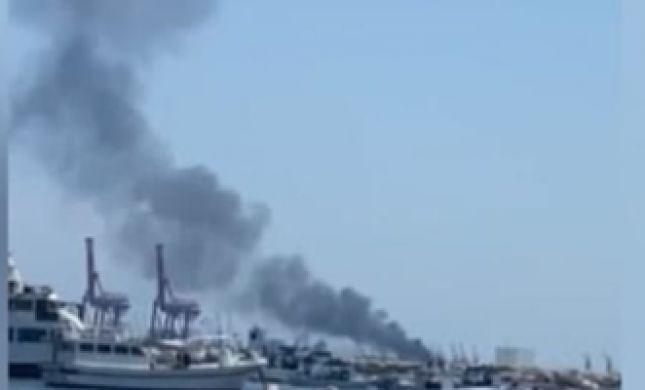 דיווח בסוריה: פיצוץ בספינה בנמל לטקיה, 2 נפצעו