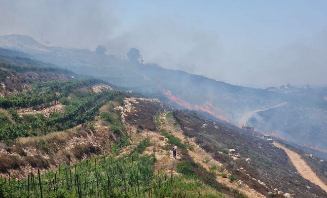 שריפה ליד ליד יצהר, התחדשה האש ליד שורש