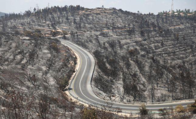 הושגה שליטה על האש בהרי ירושלים