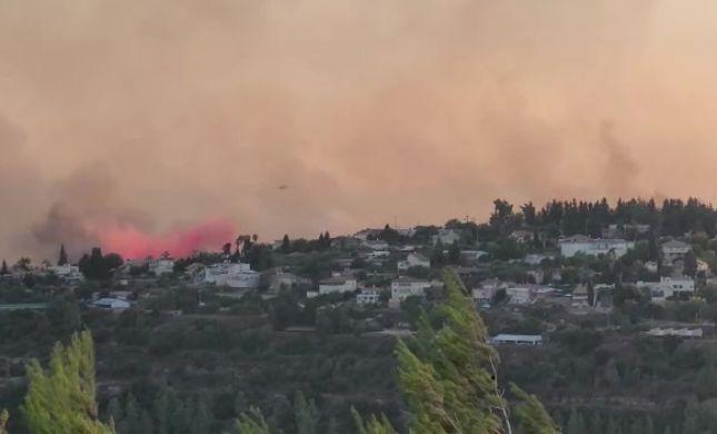 צפו: תיעוד ראשוני מהנזק הסביבתי של השריפה
