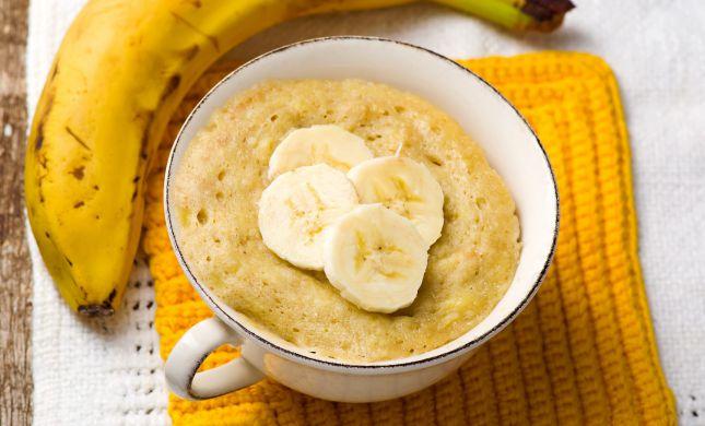תתפנקו: מתכון לעוגת בננה טרופית בספל אישי