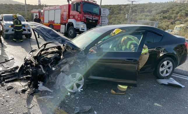 תאונה קשה בשומרון: אישה בחודש תשיעי נלכדה ברכב