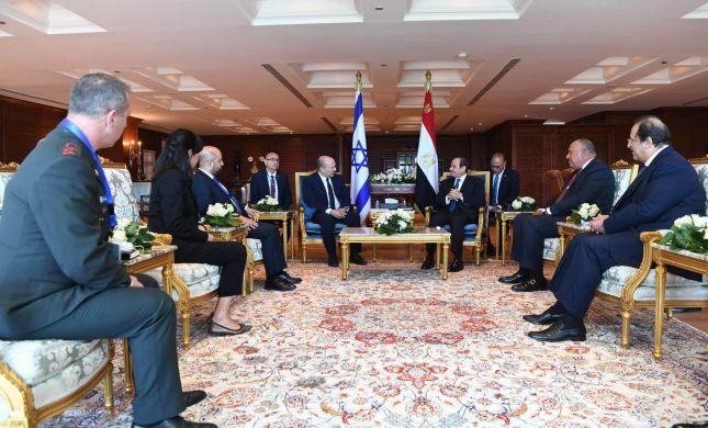בנט נועד עם נשיא מצרים: פגישה חשובה וטובה מאוד