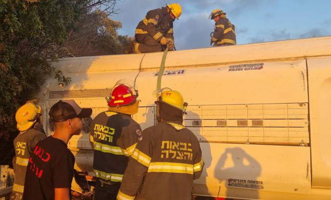 5 הרוגים ועשרות פצועים בתאונת האוטובוס בגליל