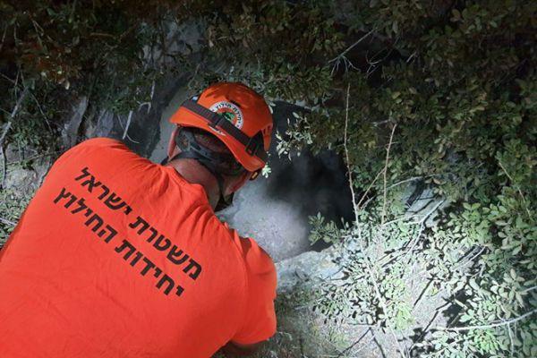 לוחם נפל לבור בעומק 20 מטר ונפצע קל