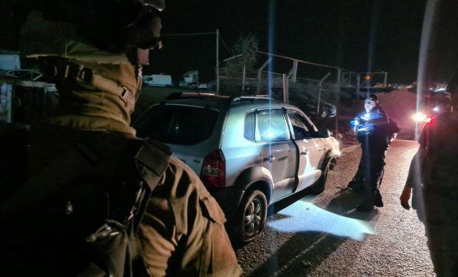 """תיעוד מזירת הפיגוע: לוחם מג""""ב נפצע בפיגוע דריסה"""