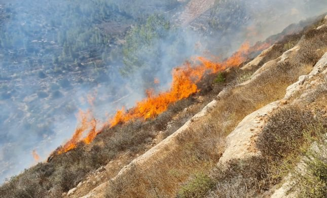 שריפה בהר גילה: ציר וואלג'ה נחסם לתנועה