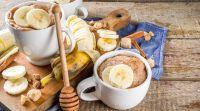אוכל, מתכוני פרווה אין זמן לאפות? עוגת חמאת בוטנים ובננות במיקרוגל