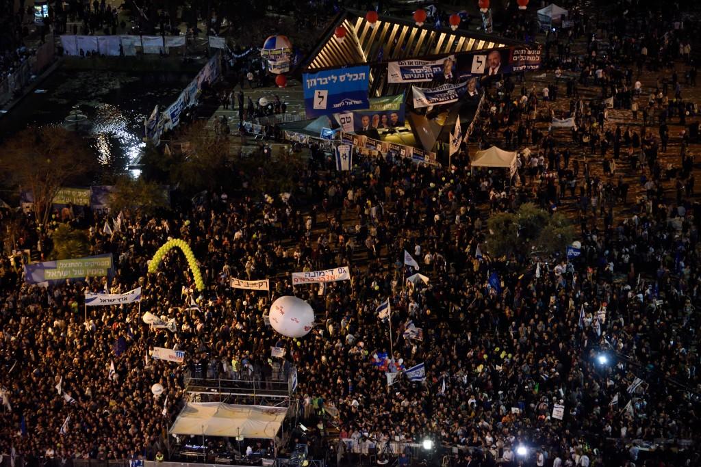 Right-Wing Rally in Tel-Aviv