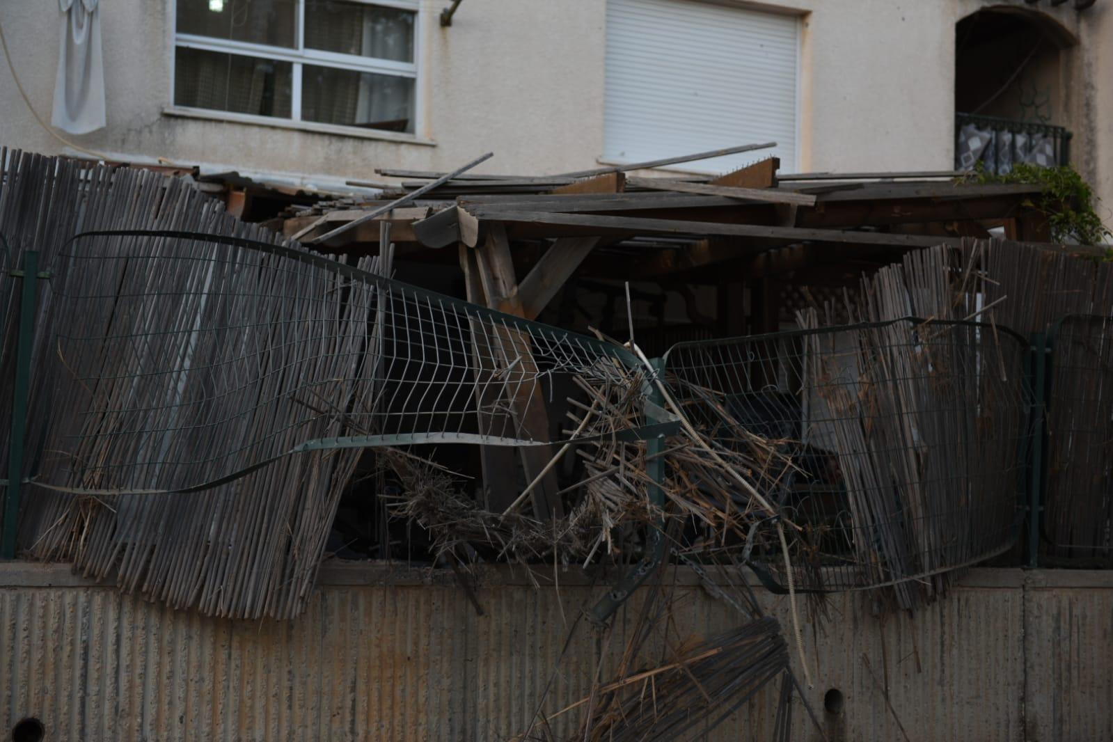 הבית שנפגע בשדרות