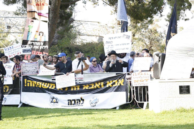 פעילי הימים בסמוך למצעד (קרדיט: TPS)