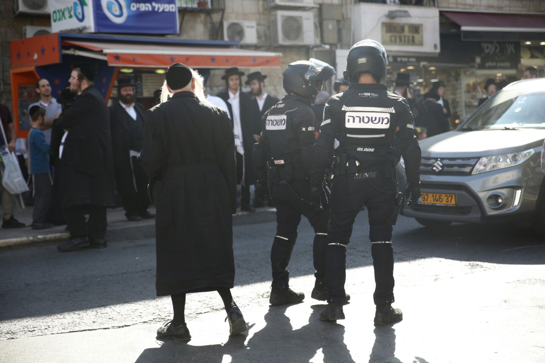זירת האירוע (צילום: חיים גולדברג/ כיכר השבת)