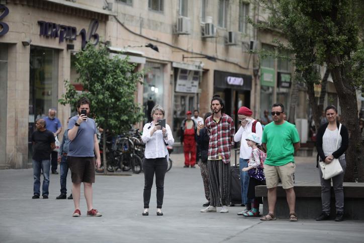 כיכר ציוןבירושלים (צילום: אהרון כהן\פלאש 90)