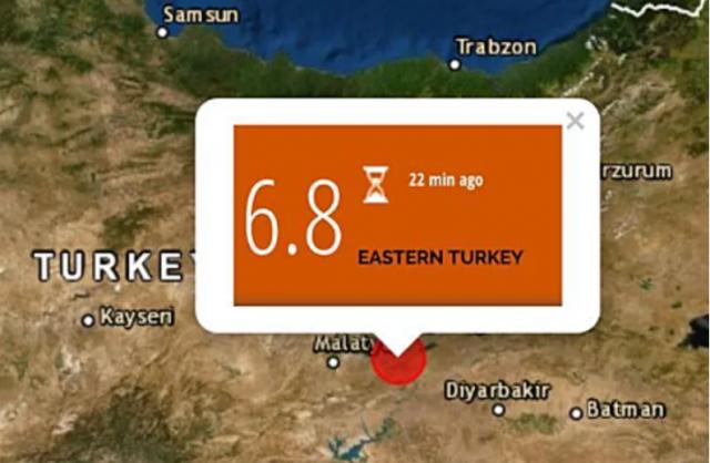 סולם רעידת אדמה בטורקיה